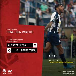 Binacional win the Peruvian league after losing 2-0 to Alianza Lima (4-3 on aggregate)
