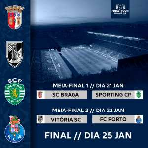 Portuguese League Cup Semi-Finals are set: SC Braga x Sporting CP / Vitória SC x FC Porto