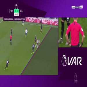 [Highlight] VAR review on Harry Kane's disallowed goal vs. Brighton