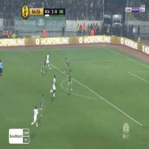 Ben Malango (Raja Casablanca) with one of the worst misses you will see this season against JS Kabylie in the CAF Champions League