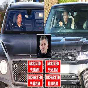 Anthony Martial and Jesse Lingard leave Manchester United training just 15 minutes after arriving as Ole Gunnar Solskjaer reveals squad are dealing with a sickness bug ahead of FA Cup third-round clash with Wolves