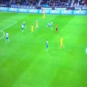 Suarez chance vs Espanyol