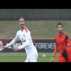 Zlatan scores on AC Milan debut in 9-0 friendly win over Rhodense