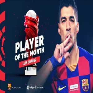Luis Suárez wins La Liga POTM for December