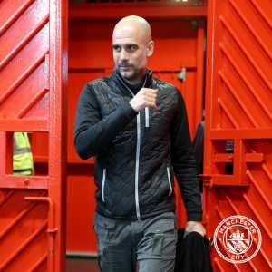 """Guardiola: """"The first minutes were tight but then we had an outstanding goal and we played reall good. In the second half they changed their shape abd we struggled a bit more to keep the ball but it is a good result. It is not over as it is united...."""""""