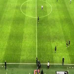 Milan fans reaction when Zlatan got subbed on