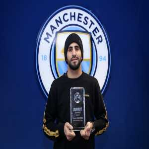 Manchester City's Riyad Mahrez wins the 2019 DZFoot Algerian Player of the Year award