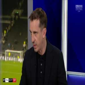 """Gary Neville on Roberto Firmino: """"I think any manager in the world would have him as their centre forward in their team. I think he's absolutely incredible."""""""