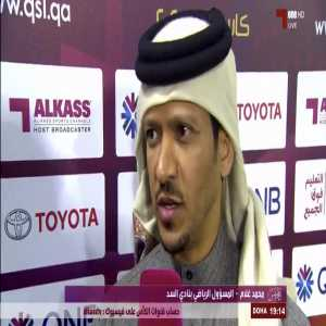 """Mohamed Ghulam Al Balushi (sports director of Al Sadd Club): """"Yes, there are negotiations between Xavi and Barcelona now and we wish him success wherever he goes."""""""