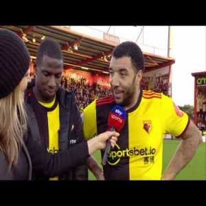 'I'm happy with the win but I'm starving!' | Troy Deeney after Watford's 3-0 win over Bournemouth