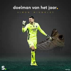 Despite not playing for the first half of 2019, Simon Mignolet winst Keeper of the year in the Belgian Pro League!