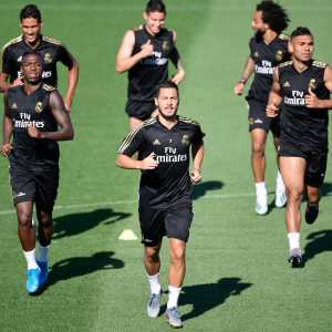 """Hazard:""""In training, we're using the ball... there's movement and matches. When you work with Italian coaches like I did with Conte and Sarri, you're not as happy. They're rigid and repetitive. I spent three years with them so to rediscover pleasure again makes me happy."""""""