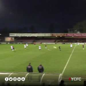 Jordan Burrow (York City FC) goal (2-0) from near corner flag vs AFC Telford (National League North)