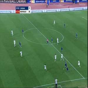 Chennaiyin FC [1]-0 Northeast United (Rafael Crivelaro) great goal from halfway line