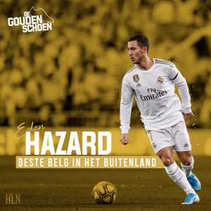 Eden Hazard voted Best Belgian footballer abroad for 3rd consecutive time by HLN Newspaper.