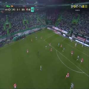Jérémy Mathieu attempt vs Benfica