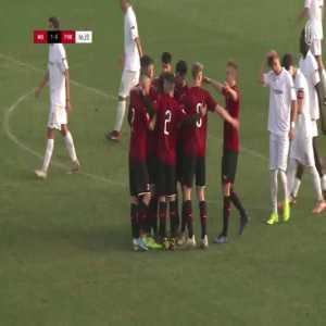 Daniel Maldini (AC Milan Primavera) free-kick goal vs Pordenone Primavera