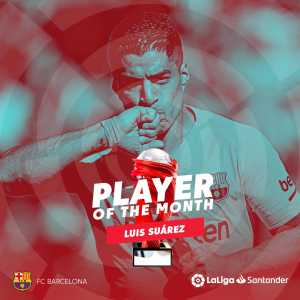 Luis Suarez is LaLiga's December Player of the Month