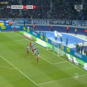 Philippe Coutinho corner kick vs Hertha Berlin