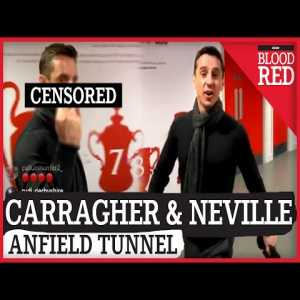 Jamie Carragher RUDELY interrupted by Gary Neville in Liverpool tunnel