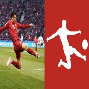 Lewandowski has perfectly imitated official Bundesliga logo in a match against Hertha Berlin
