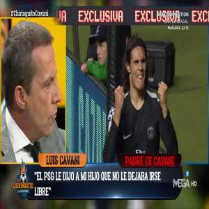 "Edinson Cavani's father: ""I'd like him to go to Atletico Madrid."""