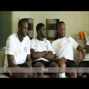Ivory Coast interwiew - Yaya Touré, Kolo Touré, Drogba, Gervinho and Kalou