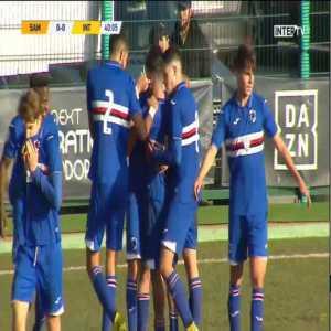 Sampdoria Primavera 1-0 Inter Primavera - Felice D'Amico (free-kick) 40'