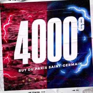 Tanguy Kouassi has scored the 4000th goal in the history of Paris Saint-Germain