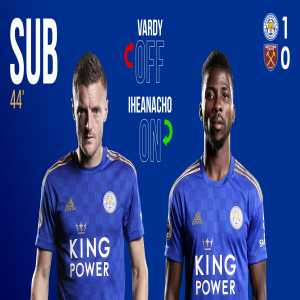 Vardy substituted after injury against West Ham