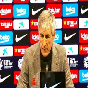 """Setien: """"We have done a lot of things well today but I am not completely satisfied. We created goals but we were not clinical enough and we gave the opponent too much room to play."""""""