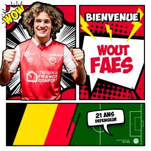 Stade De Reims sign KV Oostende defender and Belgium u21 captain Wout Faes, with a loan back Fact: The end of the season.