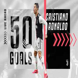 Cristiano Ronaldo has now scored 50 goals for juventus in all competitions