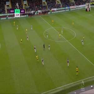 David Luiz ridiculous pass, Aubameyang ridiculous miss.