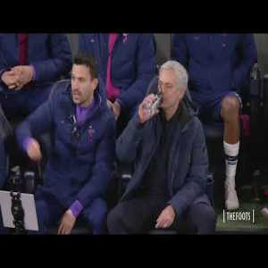 Mourinho's reaction to Lloris penalty save and Sterling's missed yellow