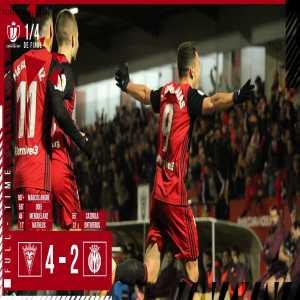 CD Mirandés have advanced to the semi-finals of the Copa del Rey after defeating Villarreal