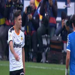 Ferran Torres, Gabriel Paulista, M. Gomez (Valencia) & D. Suarez (Getafe) Yellow cards 65'