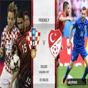 Croatia and Turkey to play a friendly match in June, in Osijek, Croatia, as preparation for EURO 2020. This will be their 10th encounter