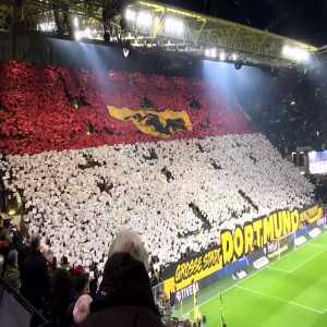 Borussia Dortmund choreo Vs Frankfurt.