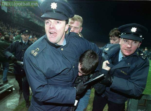 This day 25 years ago – 15 February 1995 – a riot broke out in Lansdowne Road during a football match between Ireland and England, causing it to be cancelled. It was orchestrated by Combat 18, a neo-Nazi group that had infiltrated the English supporters.