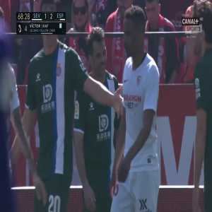 Víctor Sánchez (Espanyol) second yellow card vs. Sevilla (61')
