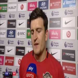 """""""I thought he was going to fall on me. It was a natural reaction"""" Harry Maguire explains his clash with Michy Batshuayi which VAR decided was not a red card"""