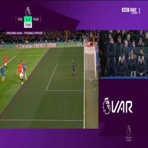 Olivier Giroud goal disallowed by VAR 78'