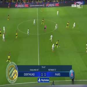 Dortmund [2]-1 PSG : Haaland 77'