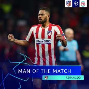 Renan Lodi named Man of the Match against Liverpool