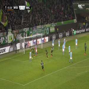Wolfsburg [2] - 1 Malmo - Mehmedi 62'