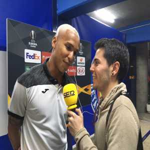 """Deyverson after the Europa League tie vs Ajax: """"Maybe we played ugly, but we got the three points. I feel great here in Getafe"""""""