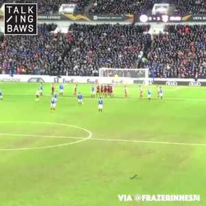 Two minutes of Rangers FC fans reacting to Hagi's goal to make it 3-2 after going 0-2 behind in the Europa League to Braga.