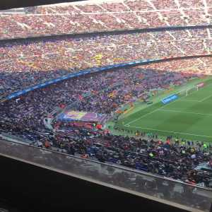 Fans at Camp Nou whistle and wave handkerchiefs before the match against Eibar