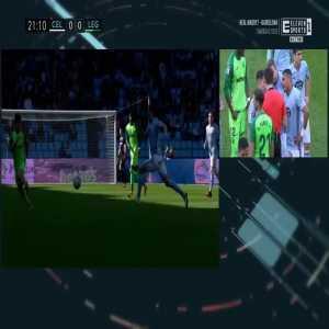Filip Bradarić (Celta Vigo) red card vs. Leganés (21')